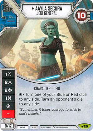 carta Aayla Secura - General Jedi