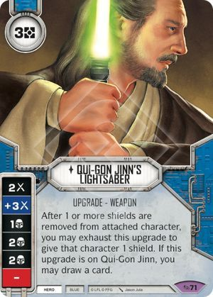 carta Sabre de Luz do Qui-Gon Jinn
